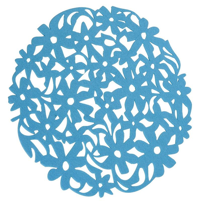 Round-Laser-Cut-Flower-Felt-Placemats-Kitchen-Dinner-Table-Cup-Mats-Cushion-A8E2 thumbnail 19