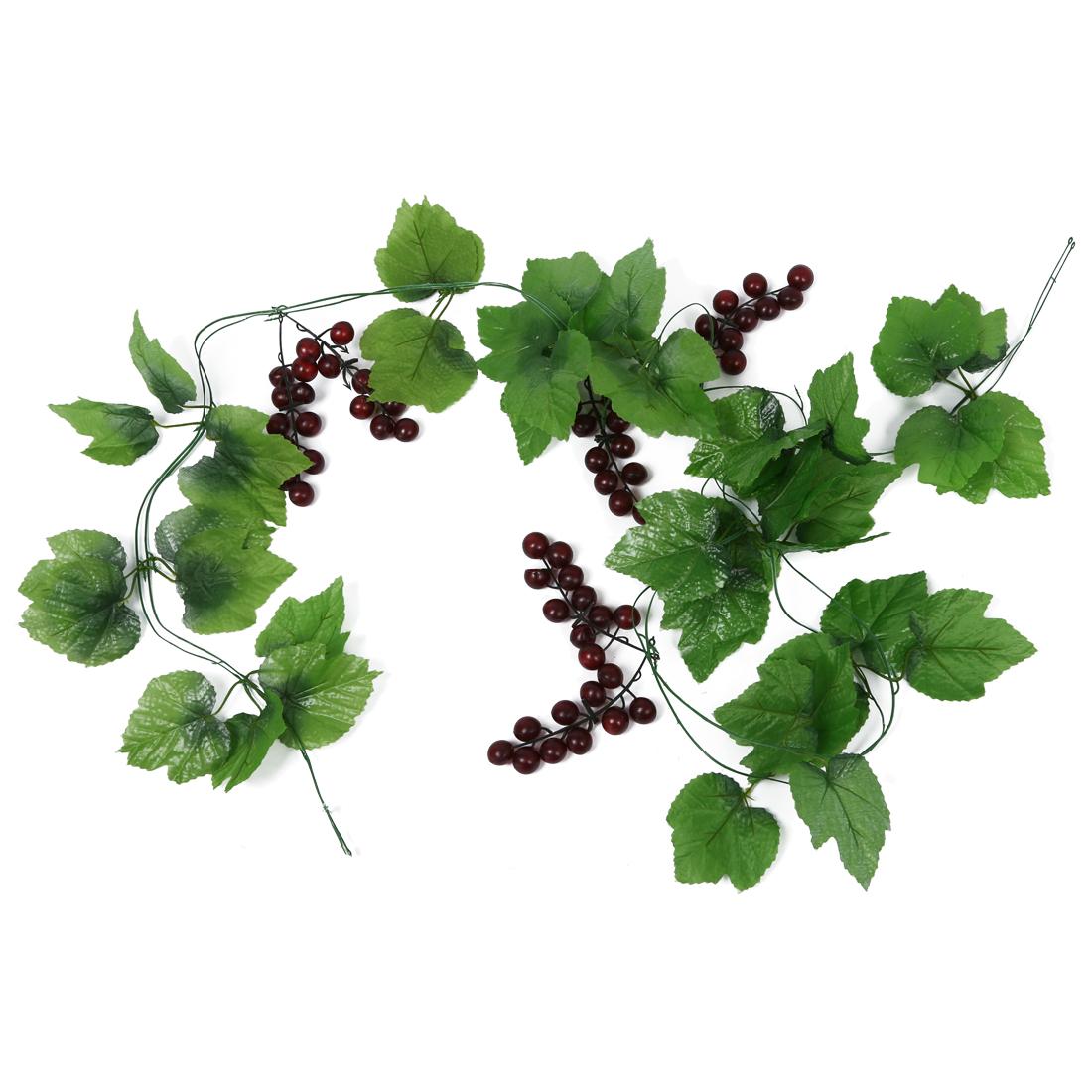 2 x vid uvas corona de frutas artificiales para la - Frutas artificiales para decoracion ...