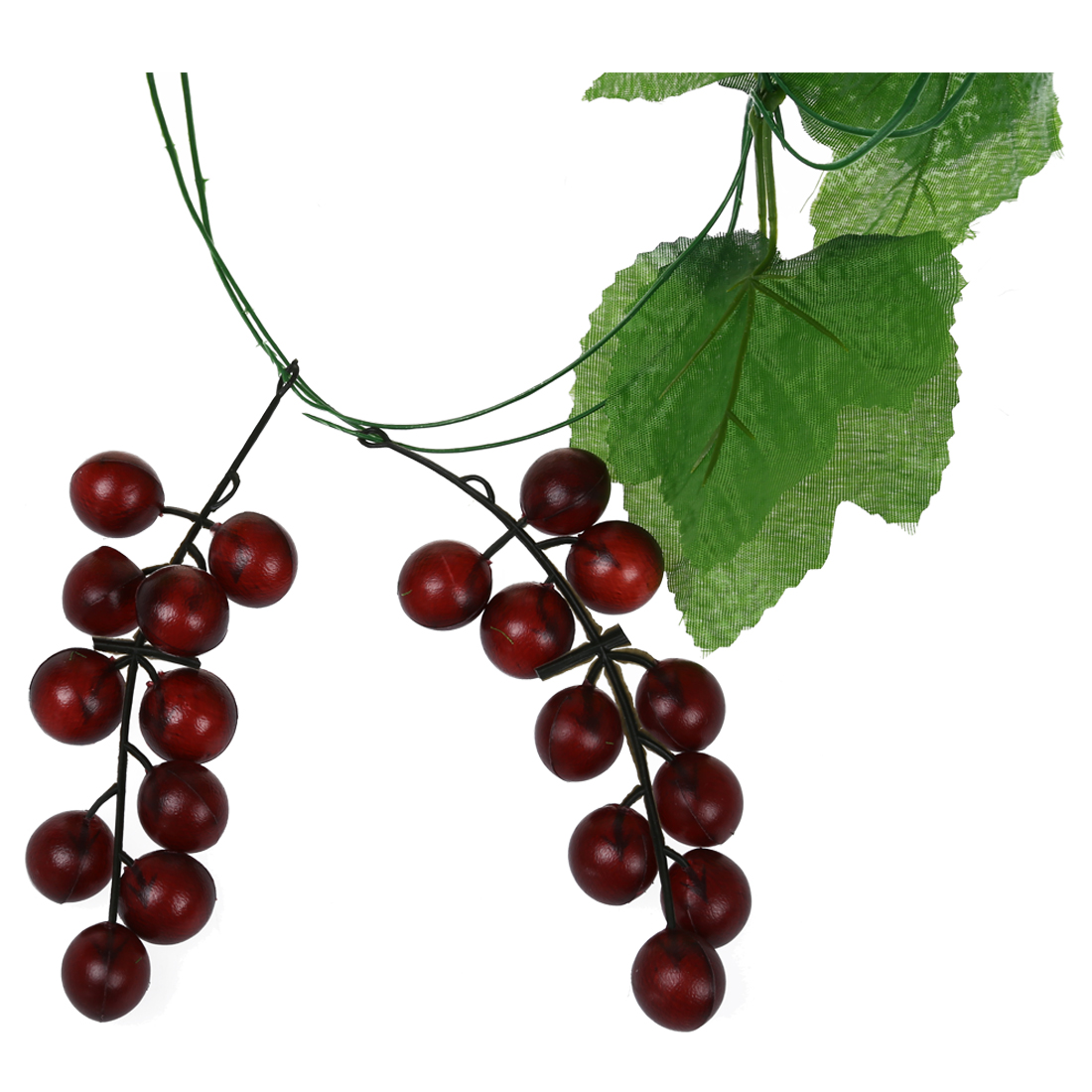 2x artificial grape vine garland fruit for home garden for Artificial grape vines decoration
