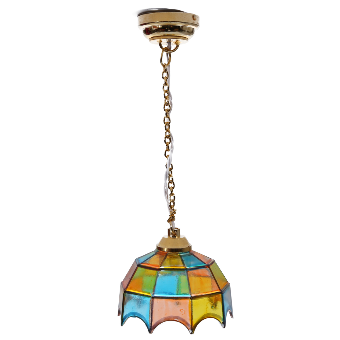 Dollhouse Ceiling Light: Metal 1:12 Dollhouse Miniature Ceiling Lamp Model With