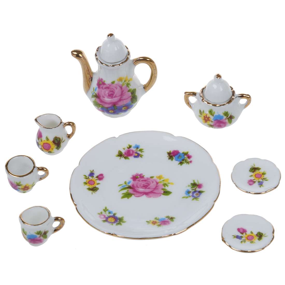 A tea set. What is included in the set for the tea ceremony 1