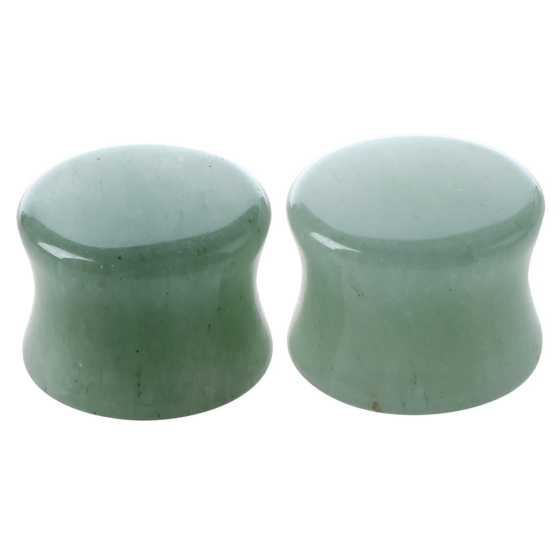 1-Pair-of-Solid-Jade-Stone-Organic-Ear-Plugs-Gauges-Rings-Tunnels-Piercing-Y1X6 thumbnail 2