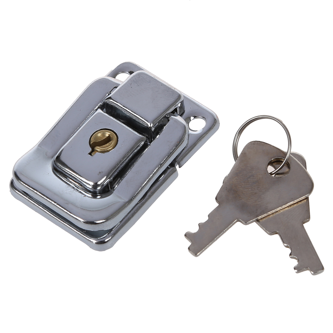 Silver Tone Stainless Steel Suitcases Case Box Hasp Latch