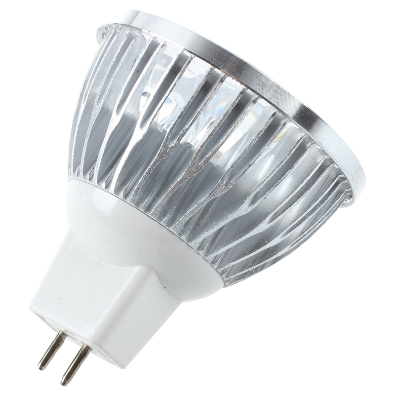 MR16 HIGH POWER 4 LED Strahler Spotlicht 3600K Birne Lampe warmweiss 4W DC 12 2I