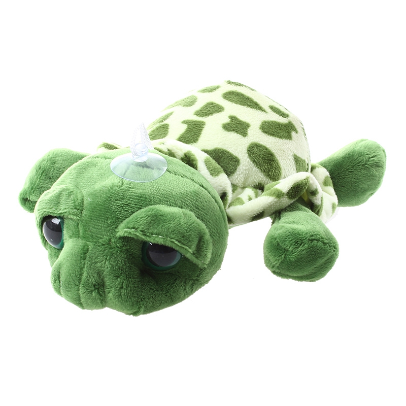 Green Big Eyed Stuffed Tortoise Turtle Doll Plush Toy Gift Q2F4