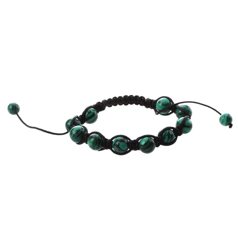 H3k4 Malachite Green Bracelet Hand Woven W5g7 Y1d6
