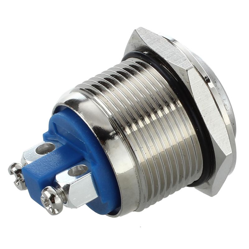 Bouton Poussoir Interrupteur Momentane Electrique 12V 19Mm Pour Voiture P4E2