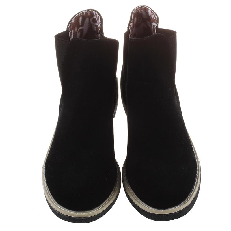 2X-Botas-de-Tobilla-Chelsea-de-Cuero-de-Gamuza-de-Mujer-Marca-de-Invierno-O-S5L2 miniatura 8