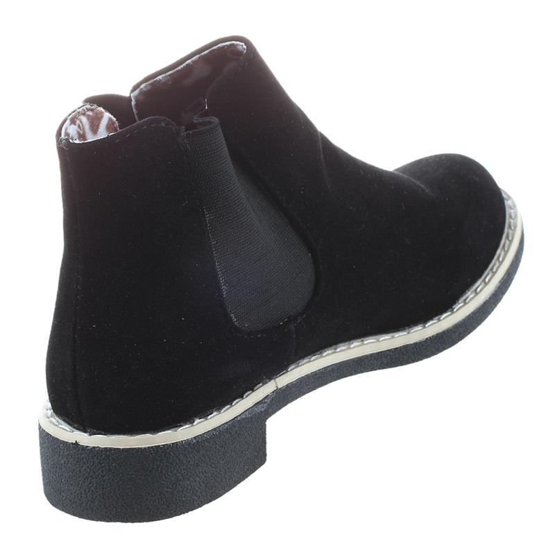 2X-Botas-de-Tobilla-Chelsea-de-Cuero-de-Gamuza-de-Mujer-Marca-de-Invierno-O-S5L2 miniatura 11