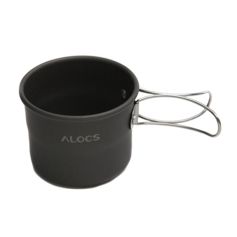 15X (Alocs TW-402 Portable Oxyde Aluminium Extérieur Camping Tasse Pliable Handl 8F4)