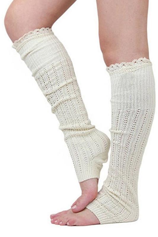 Calentadores de pierna de punto de ganchillo de invierno de mujer PB ...