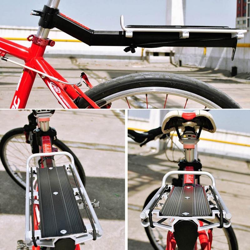 SODIAL-R-MTB-Velo-Bicyclette-Porte-bagages-Tige-de-selle-Tablette-Arriere-A-D2M0 miniature 5