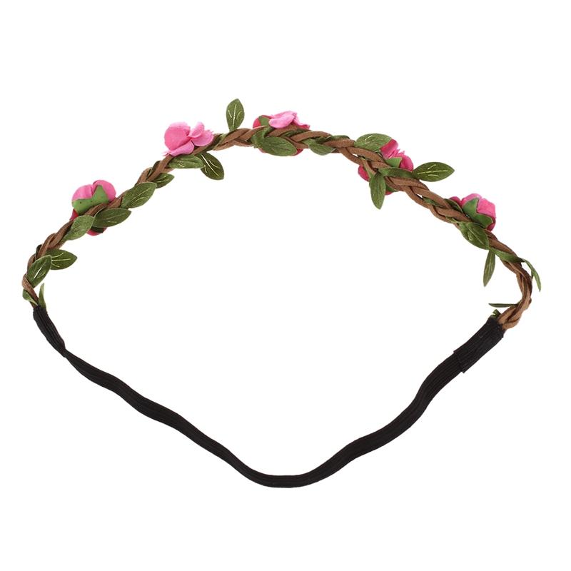 2X-Dame-Blumen-Haarband-Stirnband-Festival-Party-Hochzeit-Rose-Rot-Y4J9