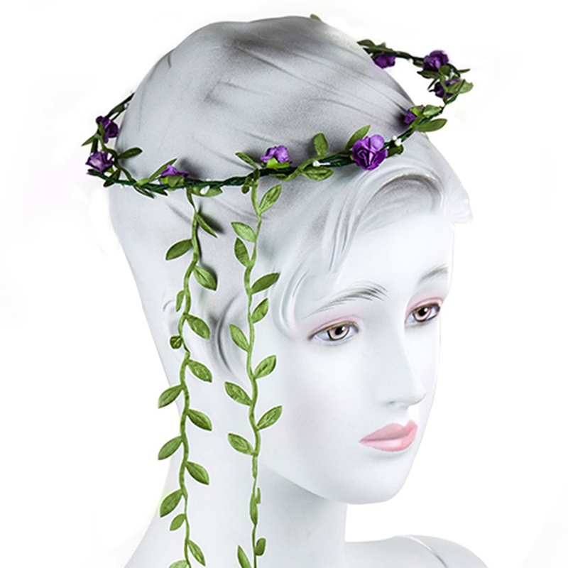 3X-Lady-Boho-Floral-Flower-Festival-Wedding-Garland-Forehead-Hair-Head-Band8M2 thumbnail 3