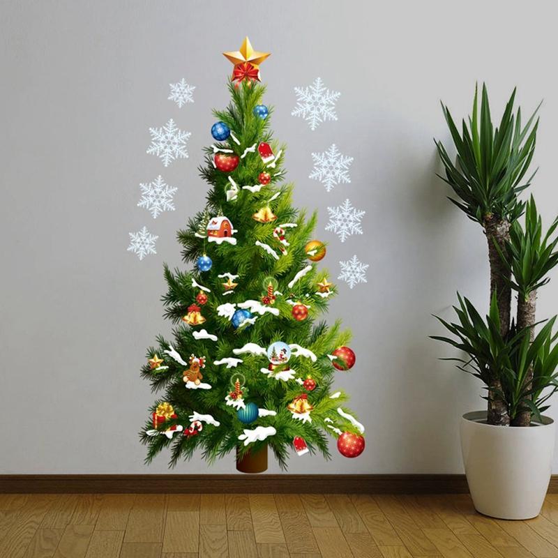 5x weihnachtsbaum entfernbarer wand aufkleber kunst abziehbild wand diy tapet qp ebay - Weihnachtsbaum wand ...