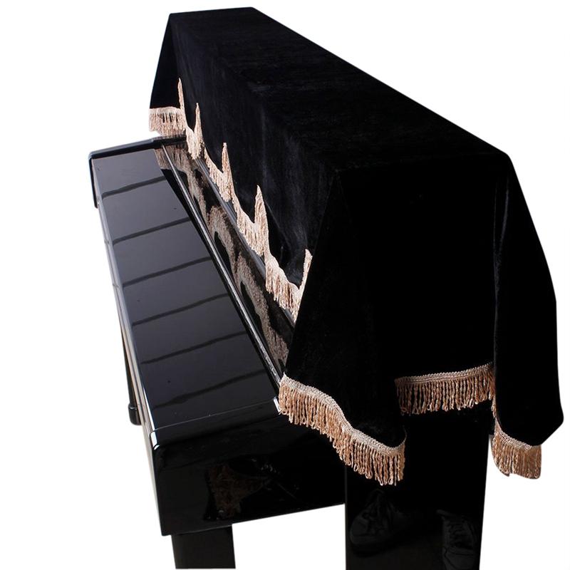 88-teclas-de-Piano-Electronico-Teclado-Cubierta-Pleuche-Decorado-con-Flecos-X9F8 miniatura 3