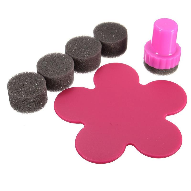 Nail Art Rubber Stamp Stamping Degrade Sponge Varnish Nail Diy Nail