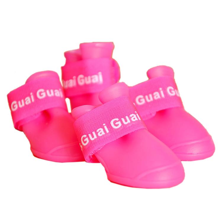 Zapatos-de-mascota-Botines-de-goma-Botas-de-lluvia-impermeable-de-perro-Q1Q8 miniatura 10