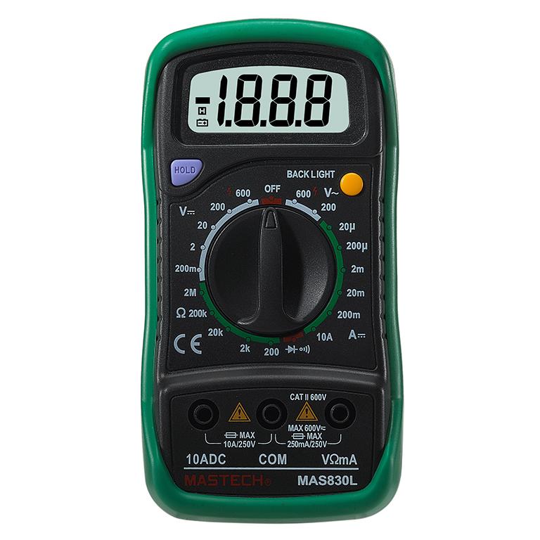 MASTECH MAS830L Digtal Multimeter Multi Tester with DC/AC Voltage Diode HFE E0V1