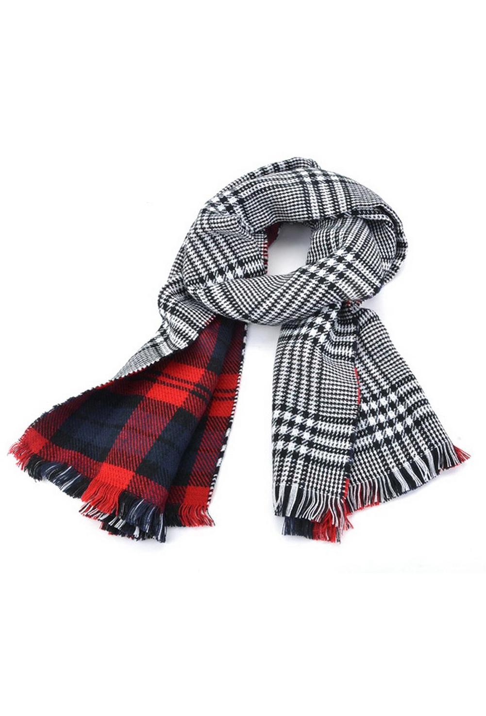 31031308ecbaa Details about Lady Women's Long Check Plaid Tartan Scarf Wraps Shawl Stole  Warm Scarves Red PK
