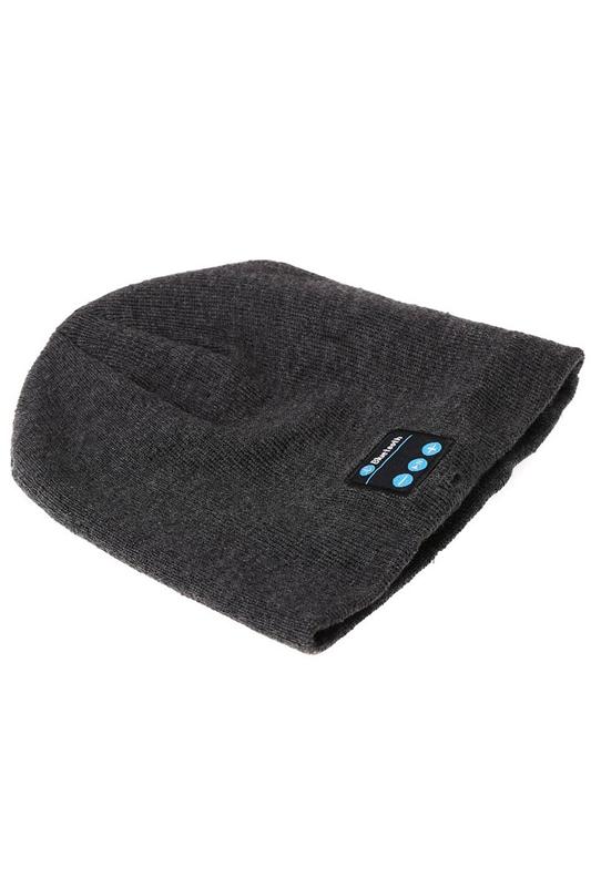 Bluetooth Musik Beanie Hut weiche warme Kappe mit Stereo-Kopfhoerer -KopfhoeT2M8