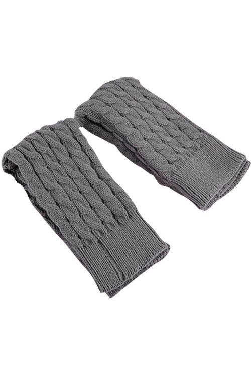 Mode-Feminine-Hiver-Tricot-Crochet-Guetres-Chaussette-Noir-E7U7 miniature 10