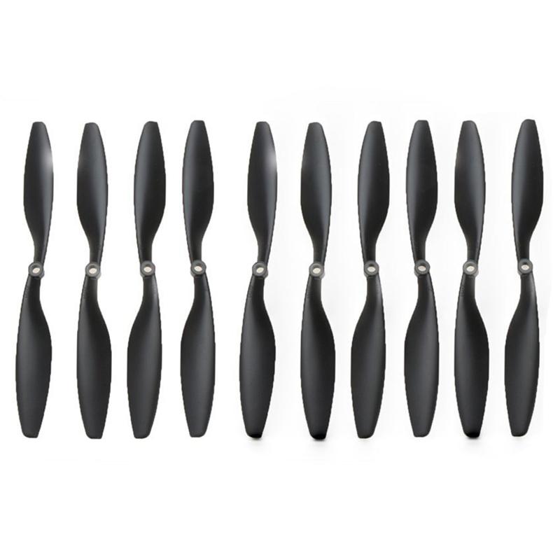 5-pares-Nylon-de-carbono-10x4-5-pulgadas-1045-1045R-CW-CCW-Helice-Negro-para-2V8