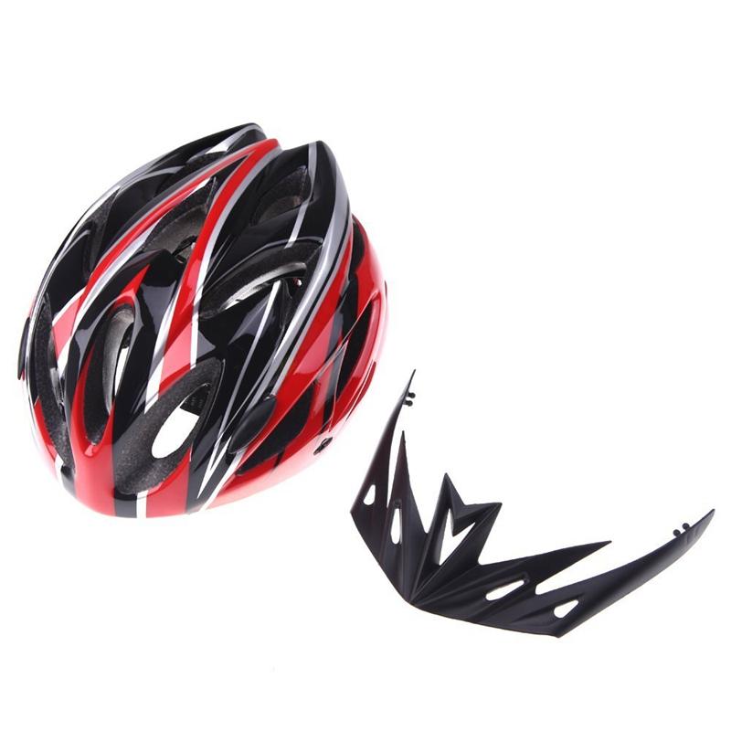 Casco-de-bicicleta-ciclismo-deportes-ultraligero-molde-solidario-con-visera-7S1 miniatura 5