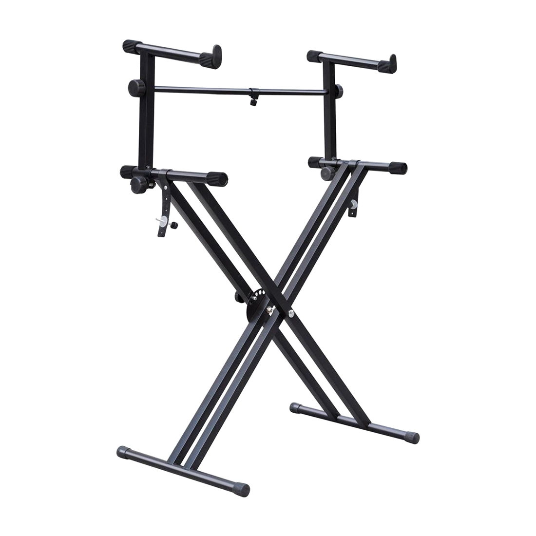 quality heavy duty x style dual keyboard stand electronic piano double 2 ti x1r1 ebay. Black Bedroom Furniture Sets. Home Design Ideas