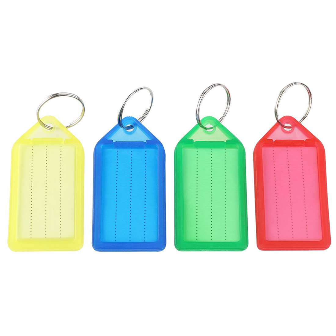 60pcs Plastic Slideable Key Fobs Luggage Tags With Key
