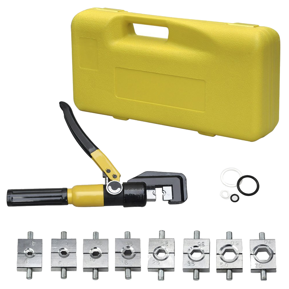heavy duty 4 70mm 8t manually hydraulic crimper crimping tool h9m2 ebay. Black Bedroom Furniture Sets. Home Design Ideas