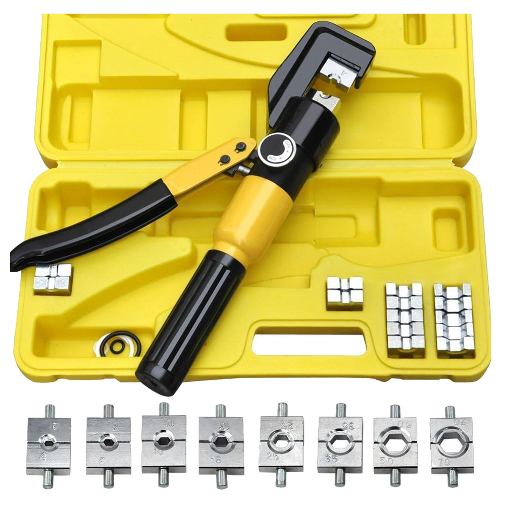 heavy duty 4 70mm 8t manually hydraulic crimper crimping tool r1t7 sn. Black Bedroom Furniture Sets. Home Design Ideas