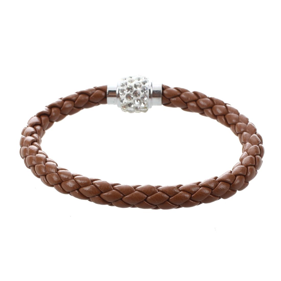 frauen maenner armband wristband schnur leder geflochten kristall ball gesc z6y6 ebay. Black Bedroom Furniture Sets. Home Design Ideas