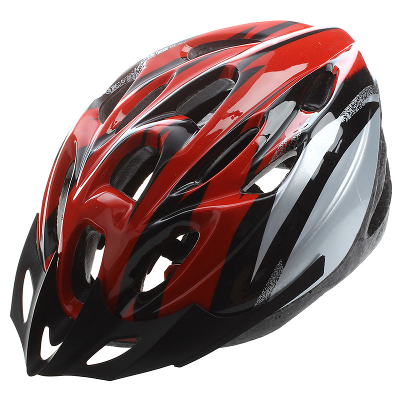 Red Black Mountain Road Race Bicycle Bike Cycling Safety Unisex Helmet + V H0U6