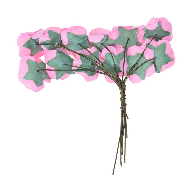 Environ-144Pcs-Mini-Papier-Rose-Fleur-pour-Faveur-de-Mariage-Artisanal-R9C9 miniature 9