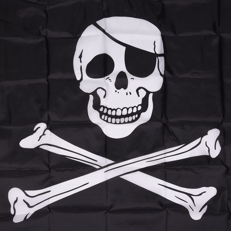 Pirate-FLAG-Skull-and-Crossbones-Jolly-Rodger-Large-5x3-039-Size-H1I4 thumbnail 2