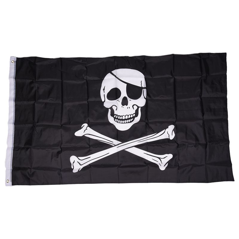 Pirate-FLAG-Skull-and-Crossbones-Jolly-Rodger-Large-5x3-039-Size-H1I4