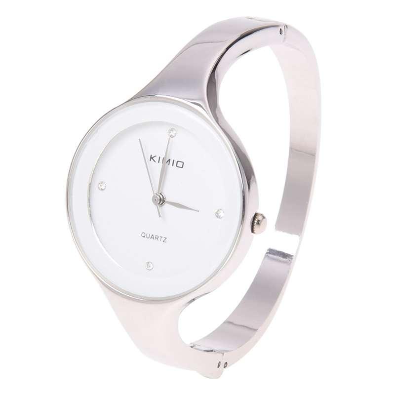 comparar el precio Últimas tendencias fecha de lanzamiento Detalles de KIMIO Encanto Bling Elegante Senora Mujer Reloj de pulsera de  cuarzo brazal G3C7
