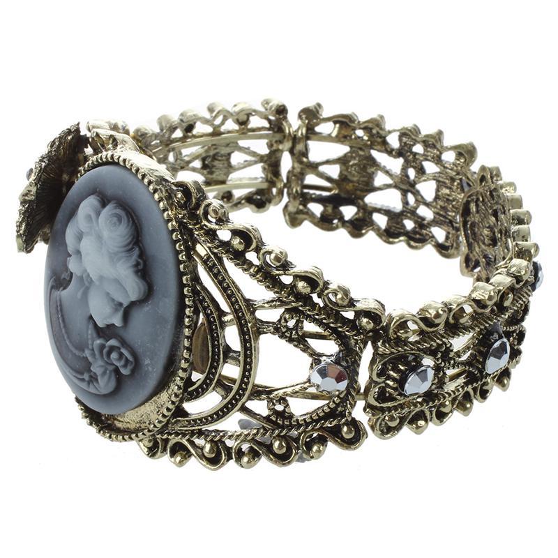 Pulsera-brazalete-DE-reina-Estatua-del-camafeo-tallada-de-relieve-de-la-ven-J8A5 miniatura 3