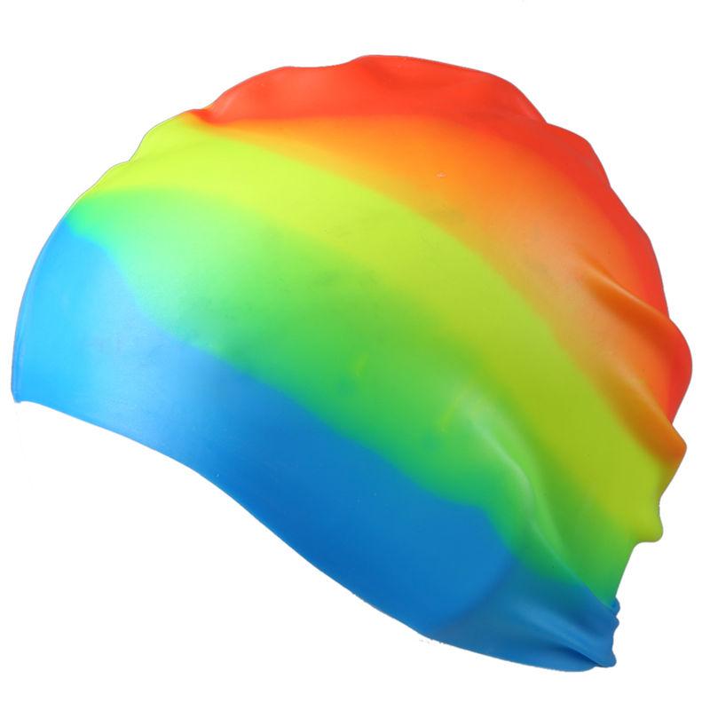 SODIAL(R) de Adultes Chapeau de SODIAL(R) natation en silicone Colore Bonnet de bain ela P7N9 b5095a
