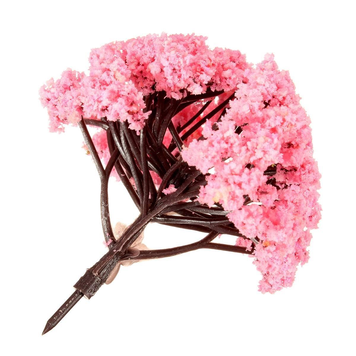 5 stuecke rosa blume baum miniatur fee garten puppenhaus for Garten baum deko