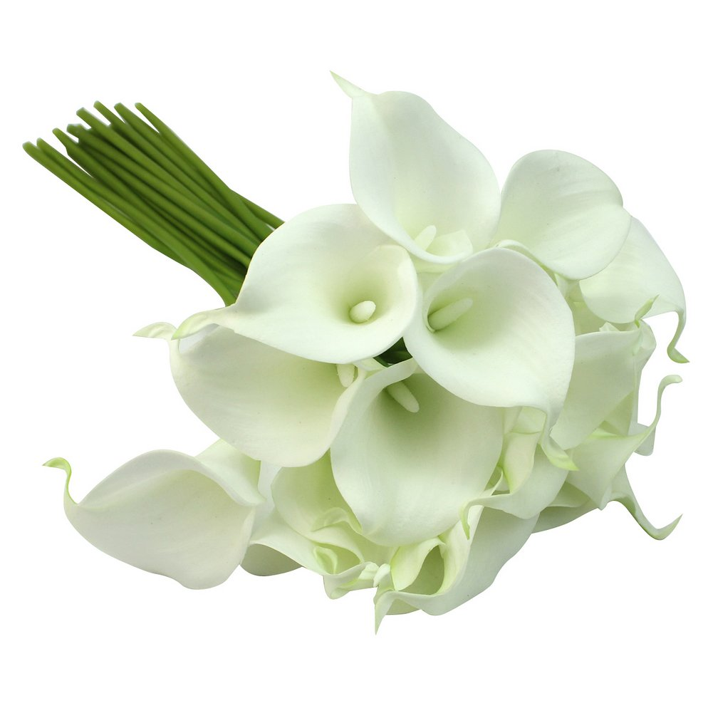 Calla lily bridal wedding decor bouquet 20 heads latex touch flower calla lily bridal wedding decor bouquet 20 heads latex touch flower bunch t4j7 4894462910634 ebay izmirmasajfo