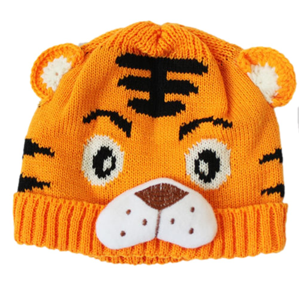 1pc Toddlers Crochet Knit Cute Tiger Hat Z7F8 4894462986301  e234a930dc3