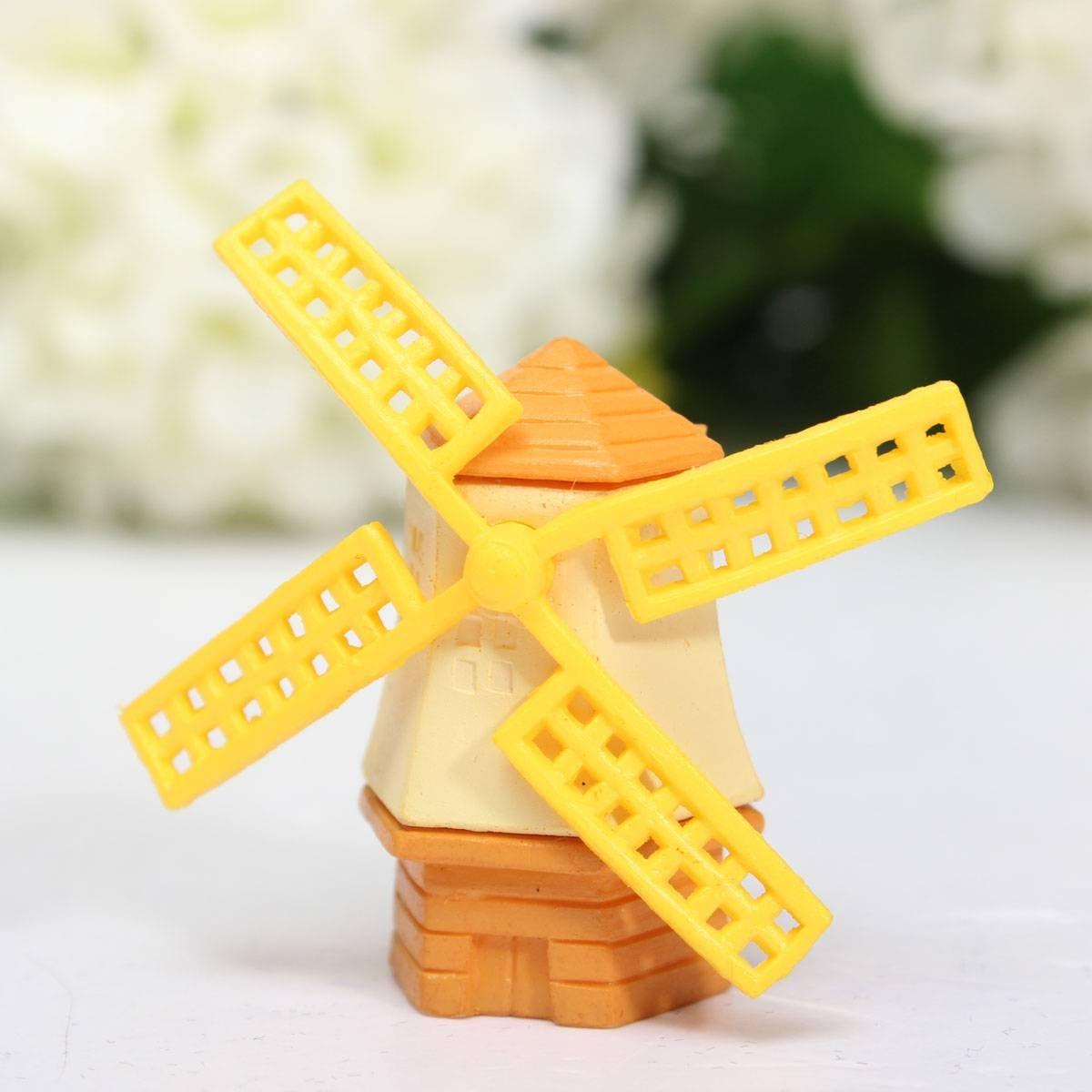 Molino de viento en miniatura para casa de munecas for Molinos de viento para jardin