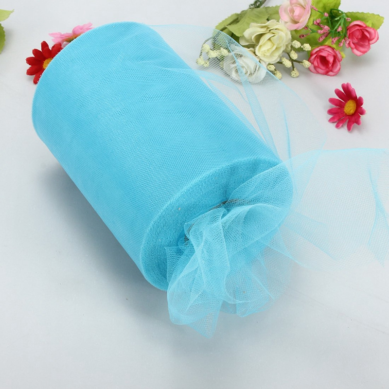 Soft-6-034-x100yd-Tulle-Roll-Spool-Wedding-Decor-6-034-x300-039-Light-Blue-D5C6