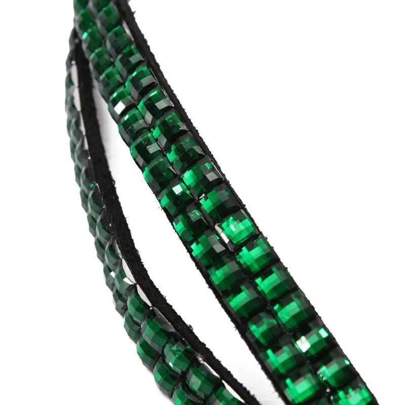 Green-Strap-Lanyard-Bling-Rhinestone-Crystal-Custom-for-ID-Badge-Key-Ring-H-H9K7 thumbnail 4
