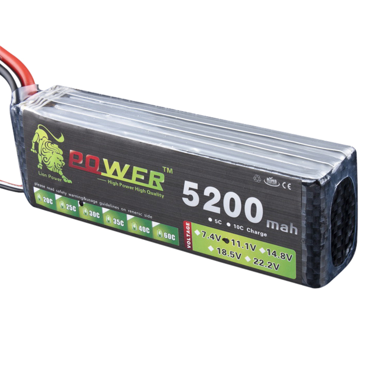 3X (oroen Lion energia LiPo  11.1v 5200mah 30C - 40C 3S1P BATTERIA 156A continuo E2M1  merce di alta qualità e servizio conveniente e onesto