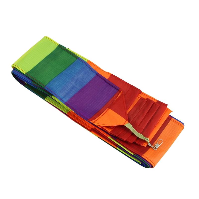 Super Nylon Lenkdrachen Schwanz Regenbogen Linie Kite Z… |