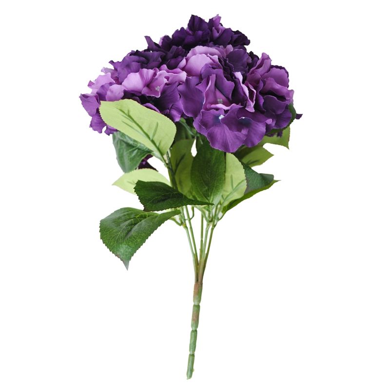 "thumbnail 19 - Artificial Hydrangea Flower 5 Big Heads Bouquet (Diameter 7"" each head) S6A9"