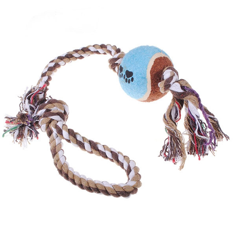 15X giocattolo da Masticare per Cane Piccolo Gatto Corda Nodo Cucciolo Piccolo Animale W9T4